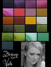 20+ unique colors Birdcage veils made with bobby pins or combs