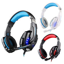 3.5mm Gaming Headphone/Microphone Stereo Headset W/ LED Light For PC Laptop PS4