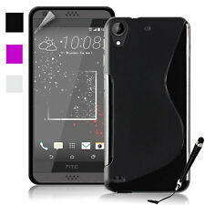 S Curve Gel Jelly Cover Case for HTC Desire 825 + Free SP & Stylus