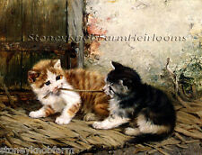Tug of War ~ Cats, Kittens ~ Counted Cross Stitch Pattern