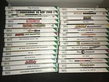 Bundle of 30 Nintendo Wii Games - Sonic, Ben 10, Cars, Bully, Tiger Woods + more