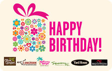Darden Restaurants - Happy Birthday Gift Card $25 $50 $100 - Email delivery