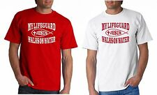 LIFEGUARD SHIRT MY WALKS ON WATER NEW DESIGN JESUS CHRIST CHRISTIAN FISH Front