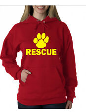 Rescue Hoodie Dog Cat Pup Pet Adoption Shelter (Like Lifeguard hoody) Red-Yellow