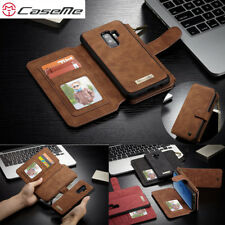 Samsung S6 S7 Edge S9 S8 Plus Removable Leather Wallet Flip Card Slot Case Cover