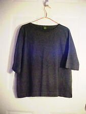 LADIES' GRAY SHORT SLEEVE KNIT TOP BY DOCKERS - SZ XL