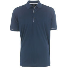 GREG NORMAN MICRO LUX SOLID POLO SHIRT - NAVY