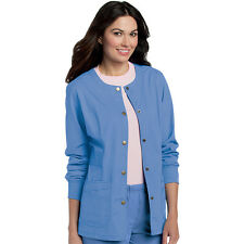 Scrubs Landau Womens Snap Front Warm-Up Jacket 3035 Ceil  FREE SHIPPING!
