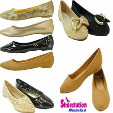 New womens ballet flats slip on espadrille loafer canvas shoes Causal Sizes 5-10