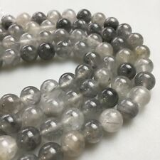 Natural Cloudy Quartz Round Beads For Necklace Barcelet Design 4mm/6mm/8mm