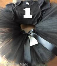 Black romper Birthday Girl any colour Tutu dress Fairy various 0-3mth, 3-6 mth