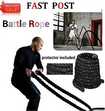 9M 15M Heavy Home Gym Battle Rope Power Strength Training Exercise Fitness Black
