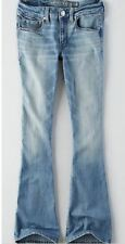 American Eagle AEO Womens BOHO Artist Flare Jeans - Size 6 X-Long - NEW