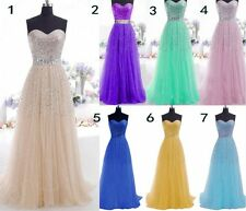2016 Long Chiffon Bridesmaid Formal Gown Ball Party Cocktail Evening Prom Dress