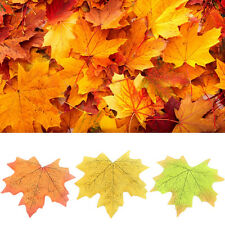 100 Pcs Maple Leaves Autumn Fall Leaf Wedding Party Holiday Home Decor 6 Colors