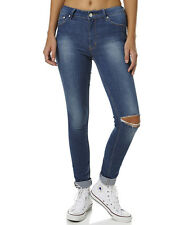 New Res Denim Women's Kitty Skinny Womens Jeans Womens Slimfit Blue