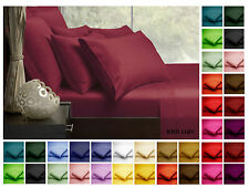 High Quality Plain Dyed Fitted Sheet Poly-Cotton Bedding Bed SINGLE DOUBLE KING