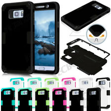Rugged Hybrid Soft Silicone Hard Combo Armor Case For Samsung Galaxy Note 5 & S7