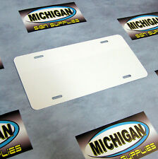100 Pack of White .024 Alum License Plate Blanks **Create Your Own Designs**