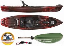 Perception Pescador Pro 100 Fishing Kayak w/Free Accessories - 2016, Red Tiger