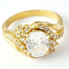 Authentic Promise Clear Crystal CZ 14K gold filled Band Ring Size 9 10