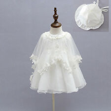 Toddler Baby Girl Baptism Dress Crochet Christening Gown Christening Dress