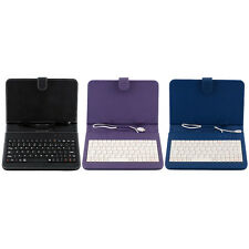 PU Leather Stand Case Cover with Micro USB Keyboard For 7 Inch 7'' Tablet