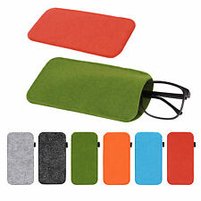 Newly Eyeglass Pouch Glasses Case Sleeve Cosmetic Bag Soft Pencil Bags 5 Colors