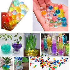 500pcs Jelly Clear Crystal Mud Soil Water Beads Pears Balls Gel Plant Flower