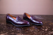 Alden Style #683 Burgundy-Brown Leather Penny Loafer New- Made in the USA