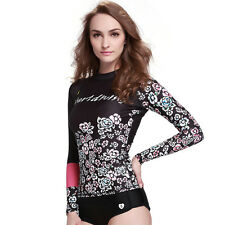 Women's Long Sleeve Tops Scuba Snorkel Beach Surfing Top Rash Guards