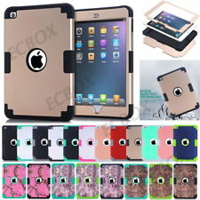 Armor High Impact Soft Rubber Shockproof Hard Plastic Case For iPad mini 1 2 3 4