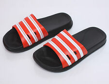 Mens Sports Gym Sandal Slipper Summer Beach Stripe Flip Flops Shoes Red