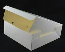 Fold Flat Cake Boxes Cup Cake Muffin White Cardboard Wedding/Birthday