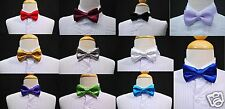 New Satin Bow Tie 4 Baby,Toddler & Boys Formal Tuxedo Suit 14 colors Selection