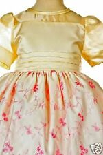 New Baby Girl & Toddler Easter Wedding Formal Party Dress Ivory/Pink S-XL(9-36M)