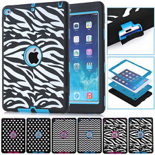 Rugged Pattern Shockproof Soft Silicone Tough Matte Cases For iPad / Air / mini