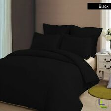 ELEGANT 1000TC SOFT (BLACK SOLID) USA BEDDING COLLECTION 100% EGYPTIAN COTTON