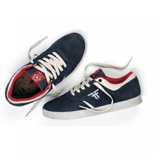Fallen Shoes The Vibe Midnight Blue Newsprint Tommy Sandoval Skateboard Sneakers