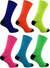 Mens Neon Teddy Boy Rock'N'Roll 70s 80s 90s Fancy Dress Socks Size: UK 6/11,