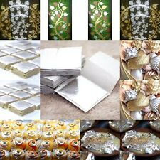 5-100 SILVER LEAF LEAVES 99.9% PURE SIZE4x4 FOOD GRAD EDIBLE 999/1000 CRAFTS DIY