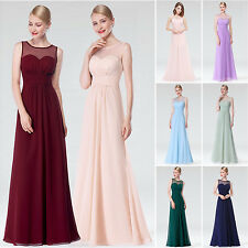 Ever Pretty Women's Chiffon Long Bridesmaid Dress Formal Evening Prom Gown 08761