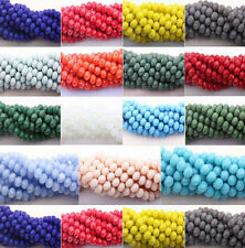 Hot Sell New Rondelle Faceted Crystal Glass Loose Spacer Beads 4/6/8/10mm