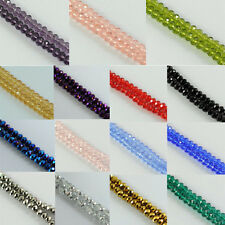 New Faceted Crystal Rondelle Loose Charm Glass Beads Jewelry 6mm 8mm 22Colors