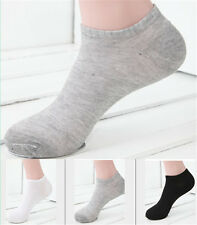 Fashion Mens Boys Ankle Socks Low Cut Crew Casual Sport Cotton Socks 3 Pairs:FE