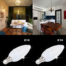 E14 LED Chandelier Candle Light Bulb 9 Watt Aluminum Plastic Warm /Cool  US