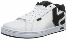 Etnies Fader White Grey Black Mens Leather Skate Trainers Shoes