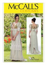 McCALL'S M7420 Misses Regency Jane Austen Day Dress Costume Sewing Pattern