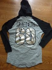 VICTORIAS SECRET PINK NFL BLING OAKLAND RAIDERS OVERSIZE LIGHTWEIGHT HOODIE NWT