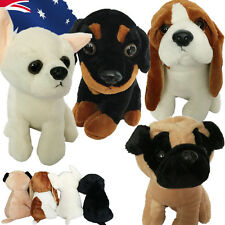 Plush Toy Dog Stuffed Animal Puppy 21cm Beagle Chihuahua Pug Rottweiler GBEA038